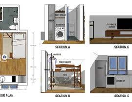 #19 for Floorplan for small studio af Ahmad981216