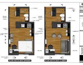#65 for Floorplan for small studio af sabrinamehjabeen