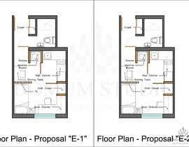 #61 for Floorplan for small studio af DomumStudio