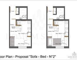 #63 for Floorplan for small studio af DomumStudio