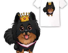 #229 cho Graphic design of a female dog character, with a royalty theme, which will be used as a large graphic on a t-shirt. bởi PPGrafico