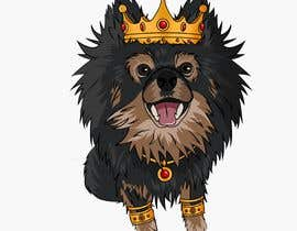 #190 cho Graphic design of a female dog character, with a royalty theme, which will be used as a large graphic on a t-shirt. bởi ZiadSalama5