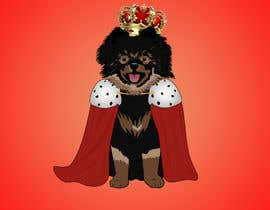 #235 cho Graphic design of a female dog character, with a royalty theme, which will be used as a large graphic on a t-shirt. bởi abdonafiia