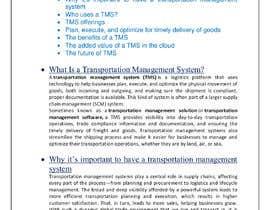 preetirajak tarafından Content Writer for Transportation Management System (TMS) - 20/09/2021 10:44 EDT için no 16