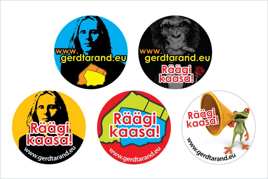 Proposition n°                                        10                                      du concours                                         5 Button Badge designs for a Personal/Political Blog