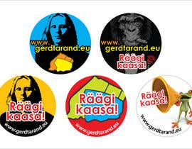 #10 for 5 Button Badge designs for a Personal/Political Blog by meichuen