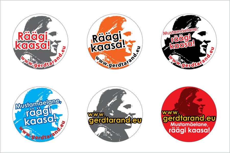 Contest Entry #                                        27                                      for                                         5 Button Badge designs for a Personal/Political Blog