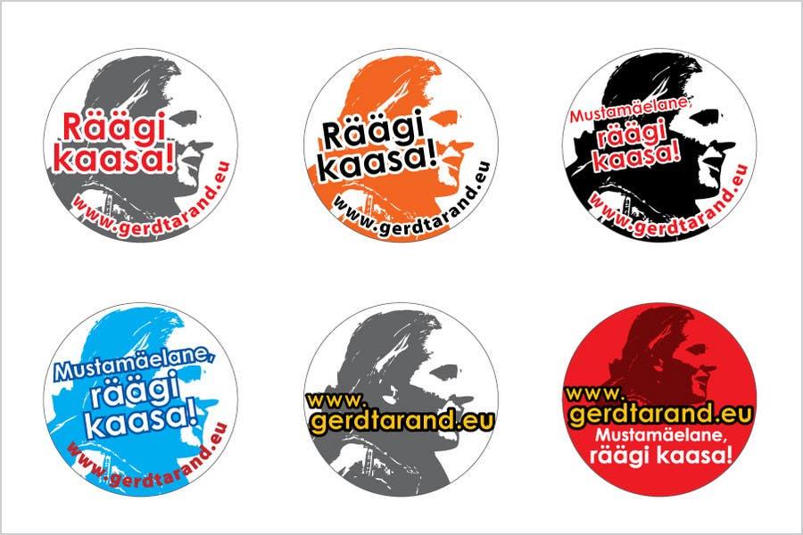 Proposition n°                                        27                                      du concours                                         5 Button Badge designs for a Personal/Political Blog