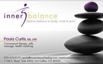 Graphic Design Entri Peraduan #22 for Design Some Business Cards for Therapeutic Massage Practice