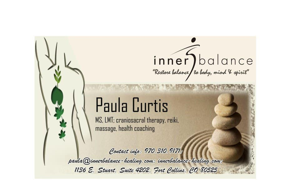 Contest Entry #                                        19                                      for                                         Design Some Business Cards for Therapeutic Massage Practice