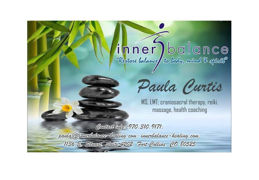 Contest Entry #                                        20                                      for                                         Design Some Business Cards for Therapeutic Massage Practice