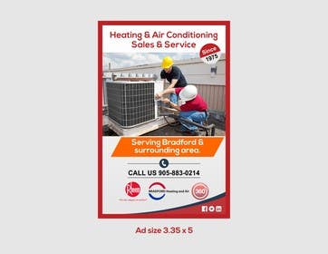 #8 untuk Design an Advertisement for Heating and Air Conditioning Company oleh artworker512