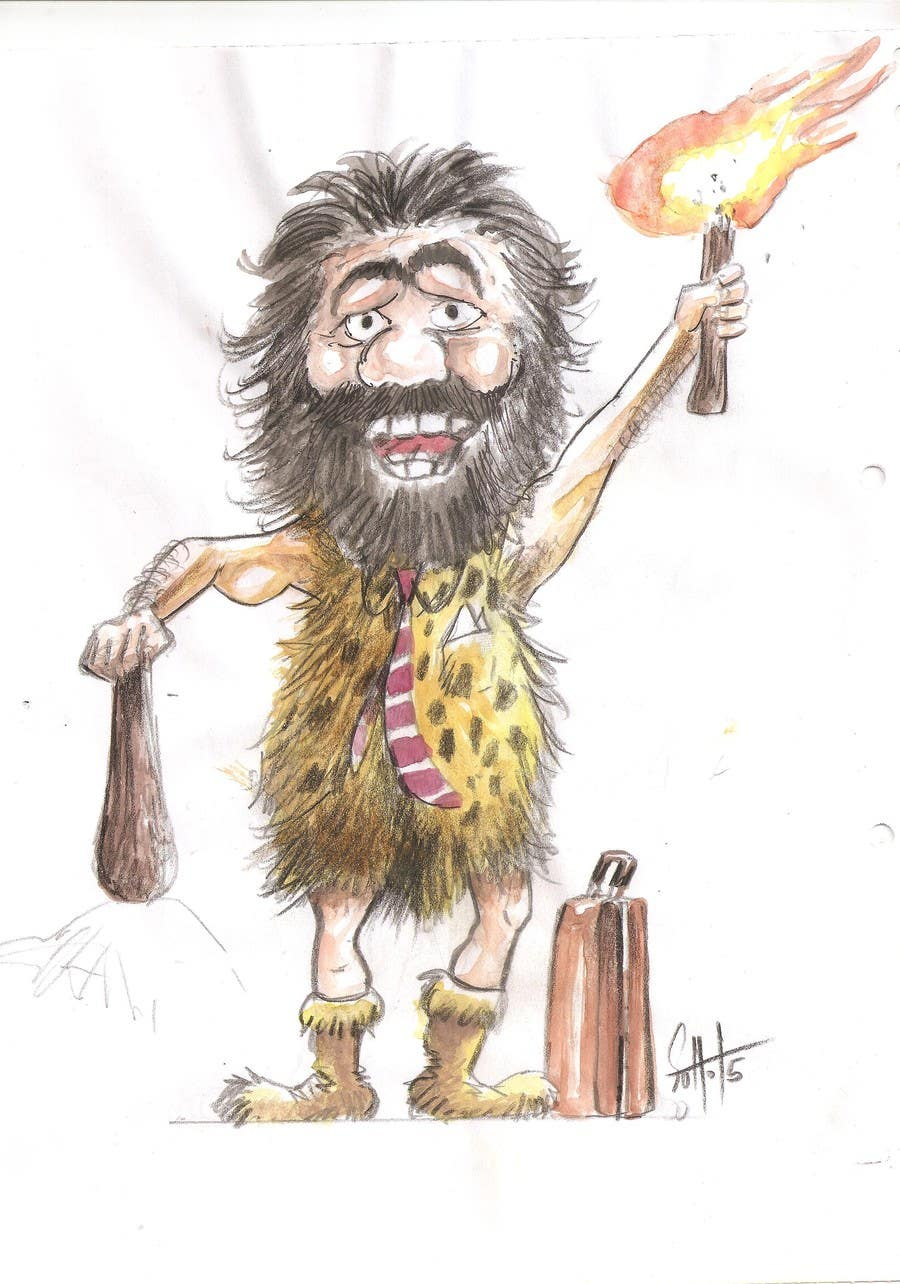 Kilpailutyö #8 kilpailussa Draw a Caveman (who is a businessman)