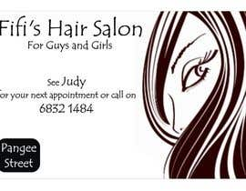 #38 untuk Design some Business Cards for hair dressing salon oleh Shrey0017