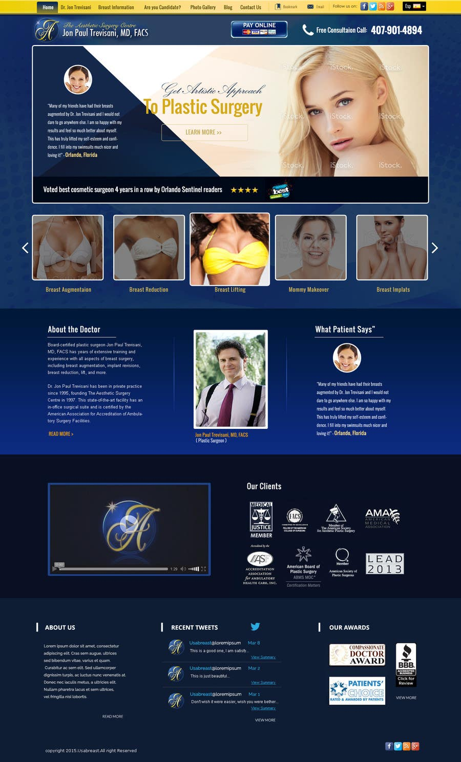 Contest Entry #                                        27                                      for                                         Design a Website Mockup for aesthetic surgery