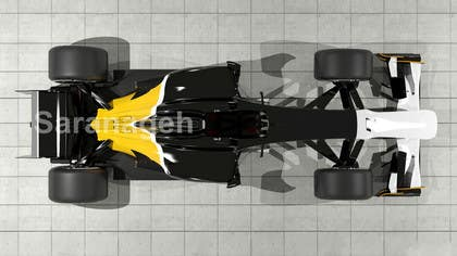 #24 untuk Need TOP view image of Formula 1 Racing Car oleh Saranageh90