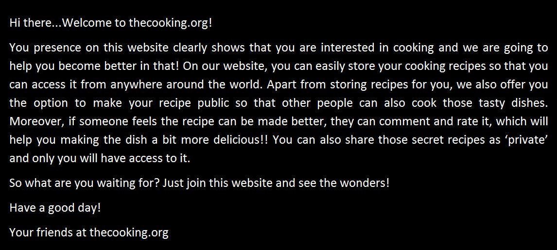 Proposition n°13 du concours Content Writing for http://thecooking.org