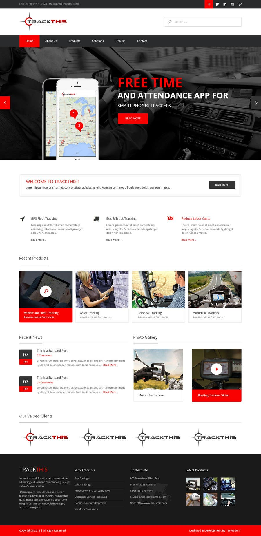 Proposition n°5 du concours Build a Website for TrackTHIS -- 2