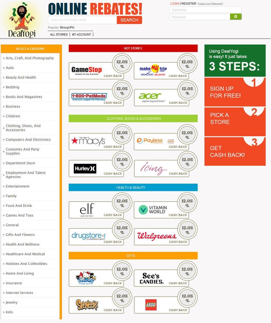 Proposition n°1 du concours Design a Website Mockup for Main Page of Deals Site