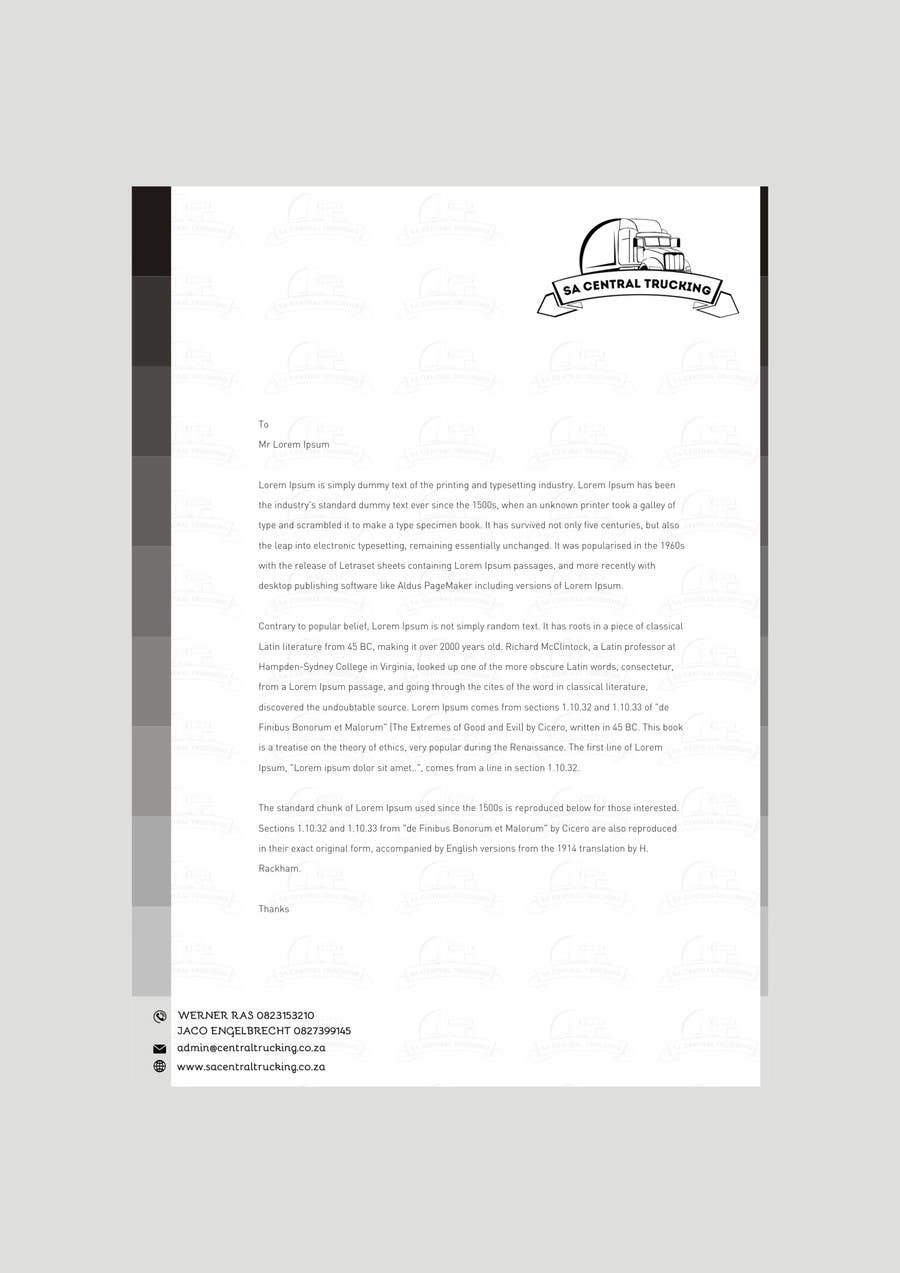 Contest Entry #11 for Design a letterhead and business cards for a trucking company