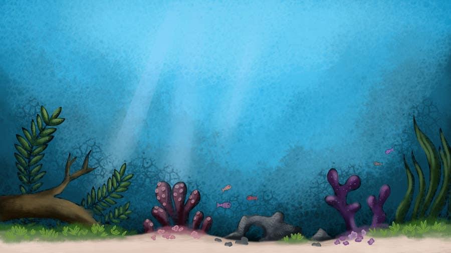 Kilpailutyö #24 kilpailussa under sea background