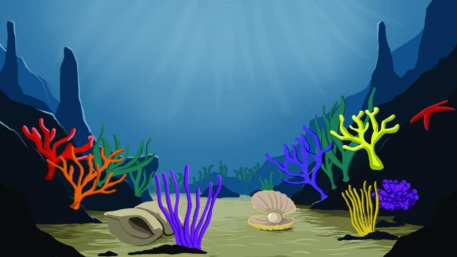 Kilpailutyö #27 kilpailussa under sea background