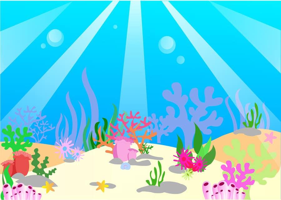 Kilpailutyö #26 kilpailussa under sea background