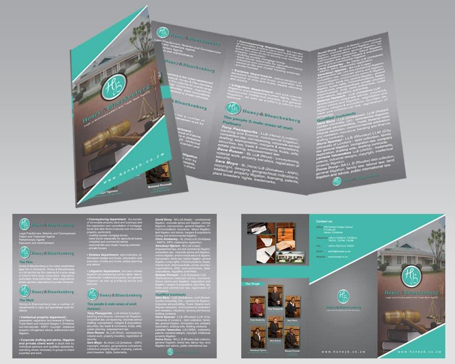 Inscrição nº 6 do Concurso para urgent Trifold Brochure needed.