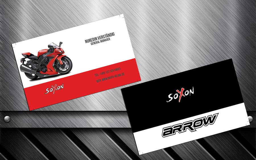 Konkurrenceindlæg #                                        7                                      for                                         DESIGN Of a Business Card for an Motorcycle helmet distribution company