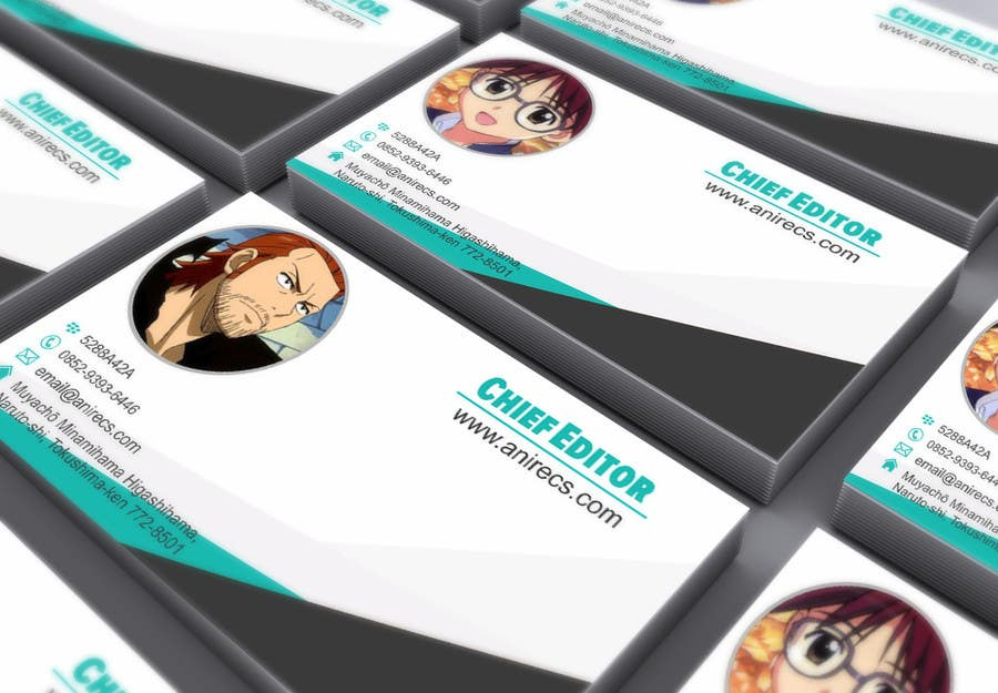 Contest Entry #                                        28                                      for                                         Design some Business Cards for anime site