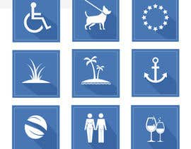 #11 for Design 15 Icons for a beach website af Modeling15
