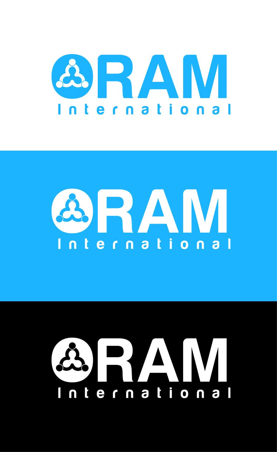 Proposition n°                                        22                                      du concours                                         Design a Logo for ORAM International