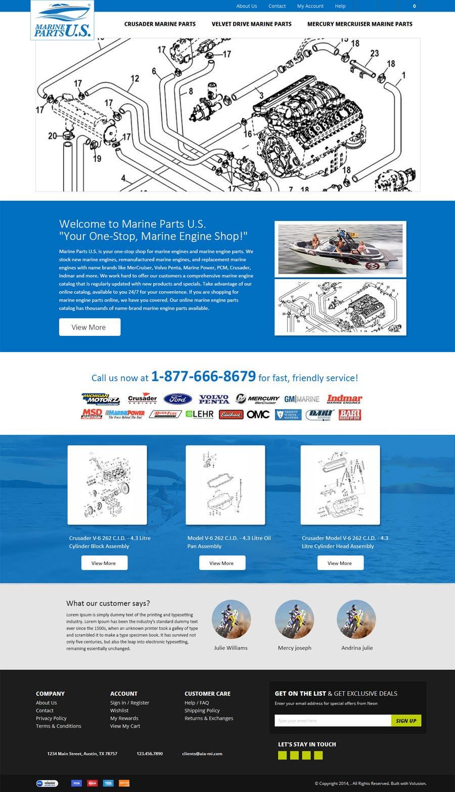 Contest Entry #                                        7                                      for                                         Design a Website Mockup for Marine Parts U.S.