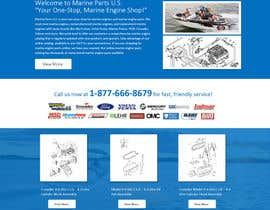 designcreativ tarafından Design a Website Mockup for Marine Parts U.S. için no 7