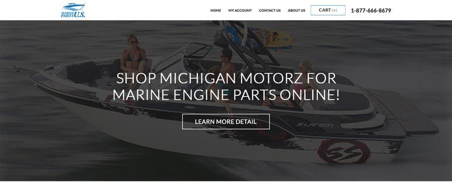 Konkurrenceindlæg #1 for Design a Website Mockup for Marine Parts U.S.
