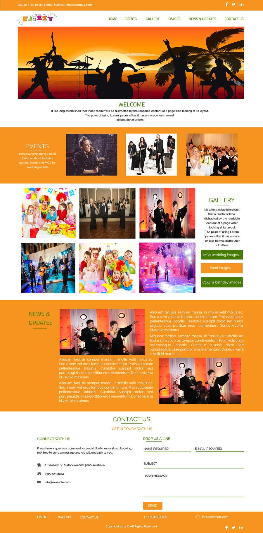 Contest Entry #                                        5                                      for                                         Design a Website Mockup for Entertainment Industry