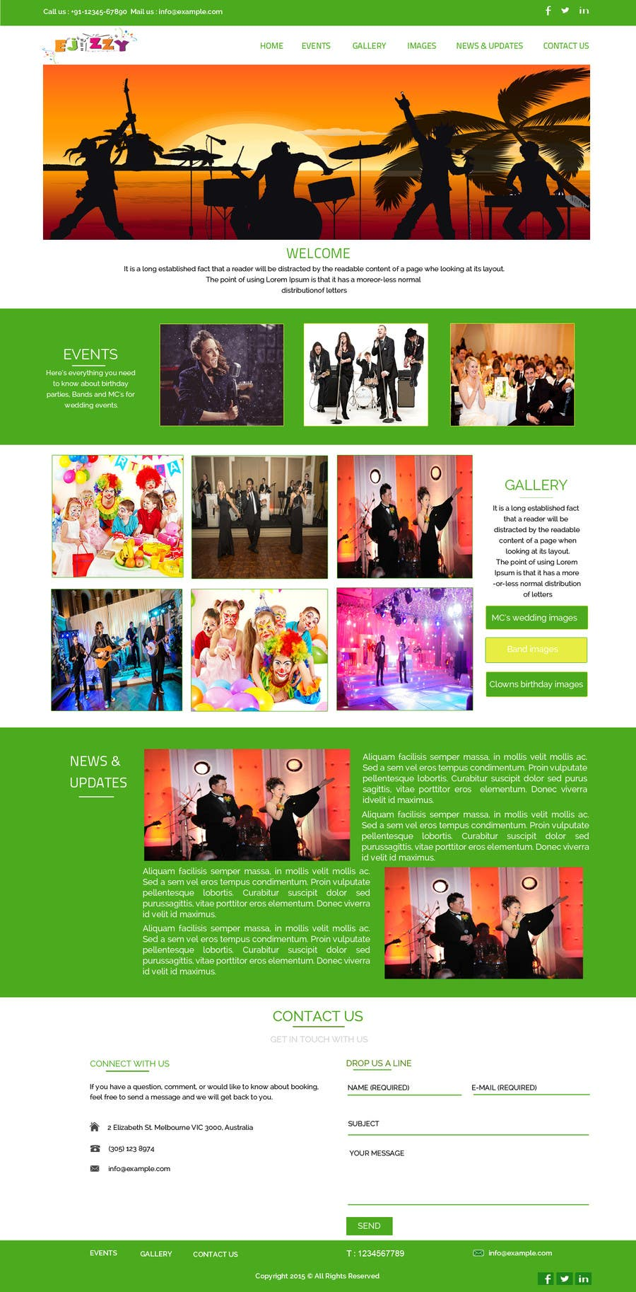 Konkurrenceindlæg #                                        11                                      for                                         Design a Website Mockup for Entertainment Industry