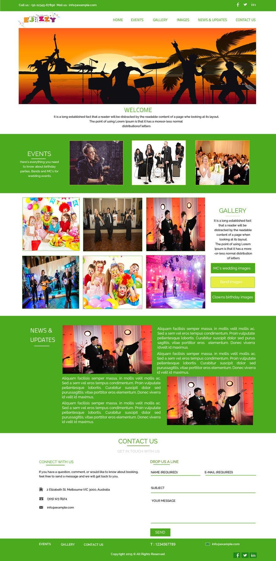 Konkurrenceindlæg #11 for Design a Website Mockup for Entertainment Industry