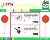 Graphic Design Konkurrenceindlæg #8 for Design a Website Mockup for Entertainment Industry