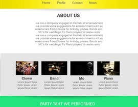 #16 para Design a Website Mockup for Entertainment Industry por RikoSaptoDimo