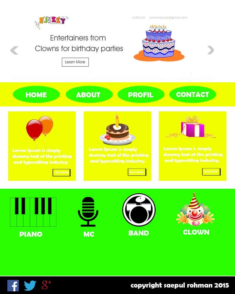 Contest Entry #                                        4                                      for                                         Design a Website Mockup for Entertainment Industry