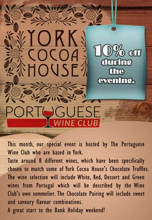 Contest Entry #                                        1                                      for                                         Illustrate Something for a Wine Tasting Event with Chocolate