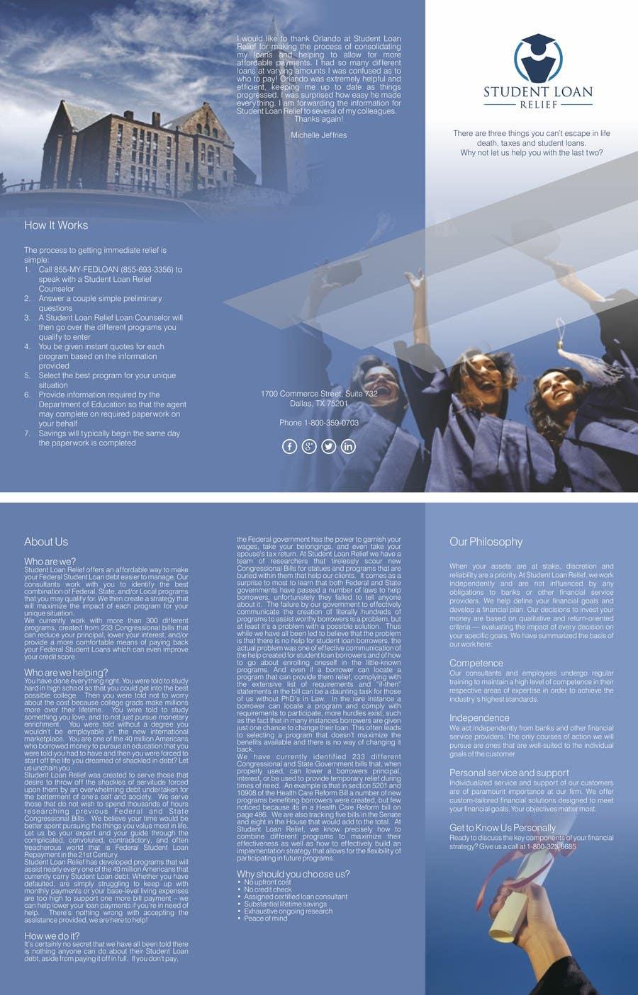 Bài tham dự cuộc thi #                                        35                                      cho                                         Create a Brochure Student Loan Relief, Inc