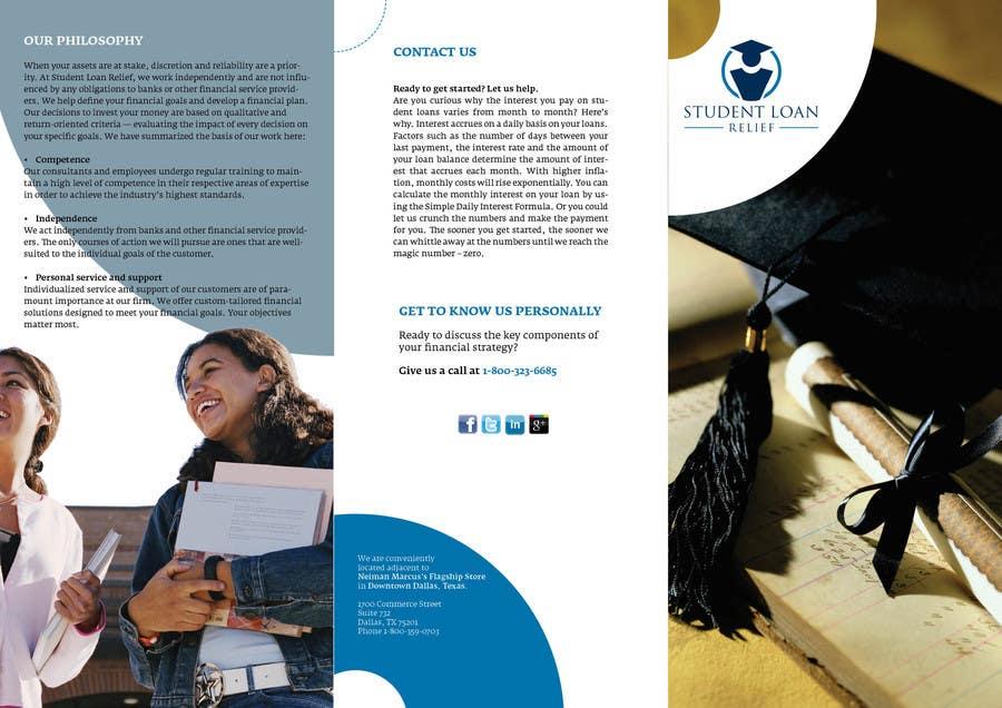 Bài tham dự cuộc thi #                                        40                                      cho                                         Create a Brochure Student Loan Relief, Inc