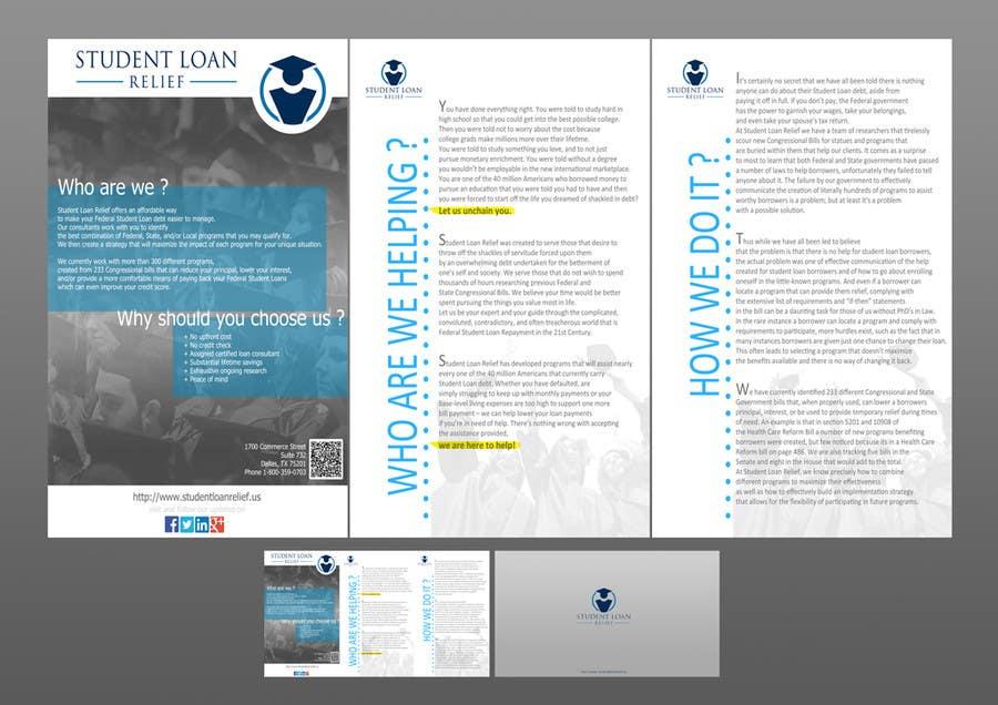 Bài tham dự cuộc thi #                                        8                                      cho                                         Create a Brochure Student Loan Relief, Inc