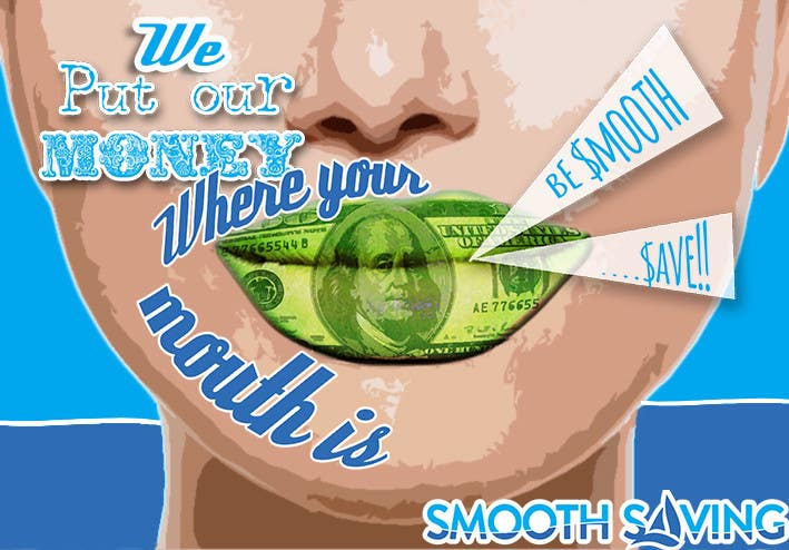"""Konkurrenceindlæg #                                        19                                      for                                         Design a postcard with theme """"We put our money where your mouth is!"""""""