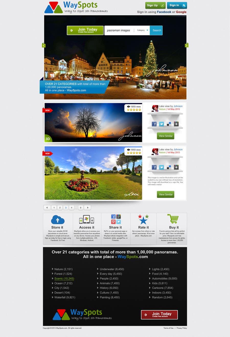 Proposition n°25 du concours Design a Website Mockup for Wayspots.com