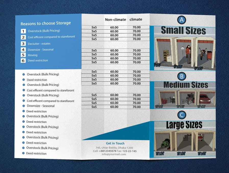 Bài tham dự cuộc thi #5 cho Design a Tr-Fold Brochure for Storage Company