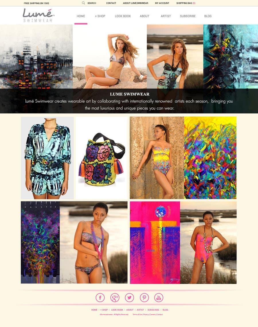 Konkurrenceindlæg #                                        3                                      for                                         Design a Website Mockup for Lumé Swimwear