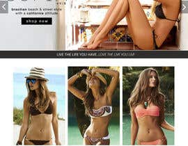 #9 for Design a Website Mockup for Lumé Swimwear af Ashleyperez